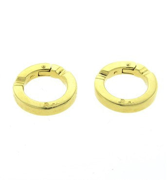 thumbnail image of Unusual Pomellato 18k Gold Circle Cufflinks