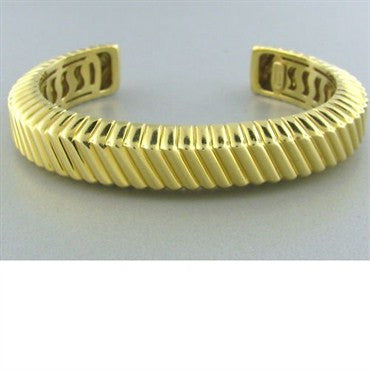 thumbnail image of Estate 1998 Tiffany & Co 18k Gold Cuff Bracelet 52.7g