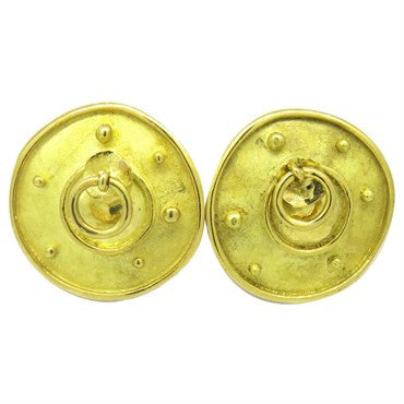 image of Unusual Denise Roberge Gold Earrings