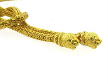 image of Ilias lalaounis Chimera 18k Gold Knot Necklace