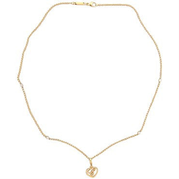 image of Chopard Diamond Gold Heart Pendant Necklace