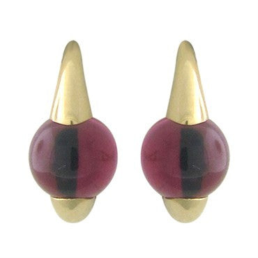 image of Pomellato M'ama Non M'ama 18k Gold Rhodolite Earrings