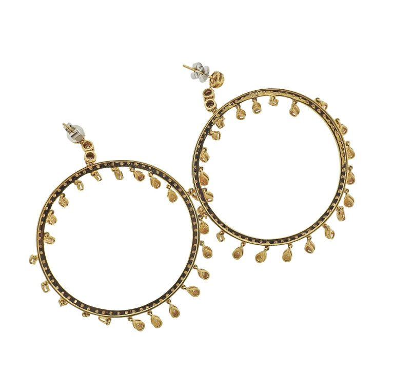 thumbnail image of Diamond Gold Circle Earrings