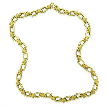image of Estate Vintage Henry Dunay 18k Yellow Gold Necklace 145.9g