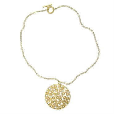 thumbnail image of Roberto Coin Mauresque 18k Gold Diamond Pendant Necklace