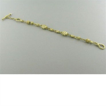 image of Judith Ripka 18k Gold Diamond Toggle Bracelet