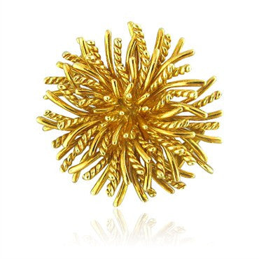 image of Estate Tiffany & Co 18k Gold Sea Urchin Brooch Pin
