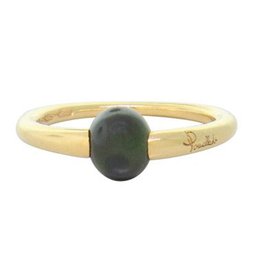 image of New Pomellato M'ama Non M'ama 18k Gold Green Tourmaline Ring