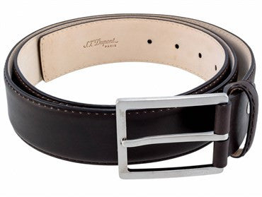image of ST Dupont Brown Leather Casual Chic Belt 7850000