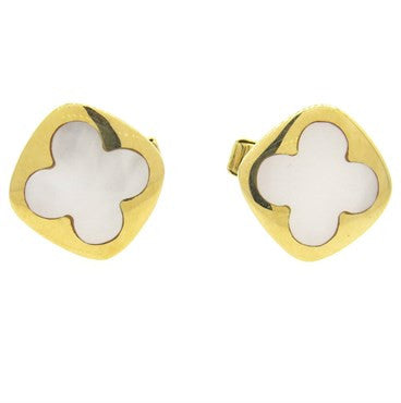 image of Lindsay Mother of Pearl 14k Gold Inlay Cufflinks