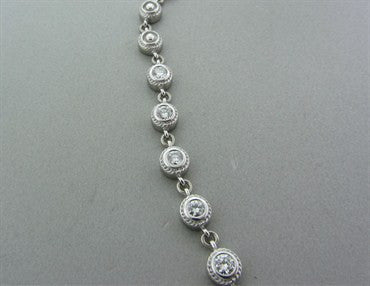 image of Penny Preville 18k White Gold 3.24ctw Diamond Necklace
