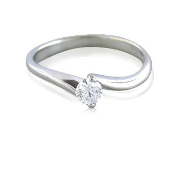 thumbnail image of New Hearts On Fire Bridal Twist Diamond Engagement Ring