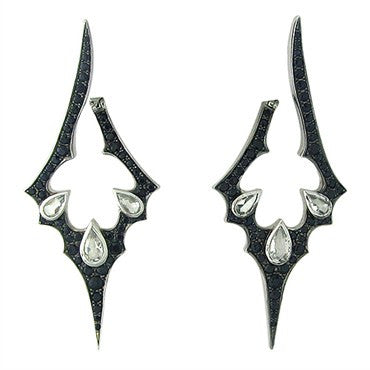image of Stephen Webster 18K Gold Black Sapphire Crystal Jewelvine Earrings