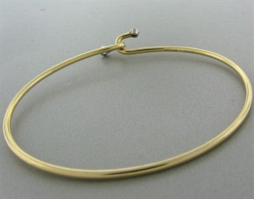thumbnail image of Vintage Tiffany & Co 14k Yellow Gold Diamond Sapphire Bangle Bracelet