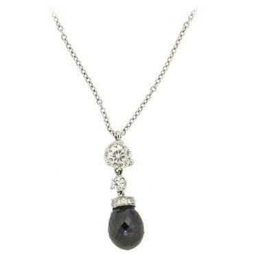 image of Roberto Coin Cento Gold Diamond Briolette Pendant Necklace