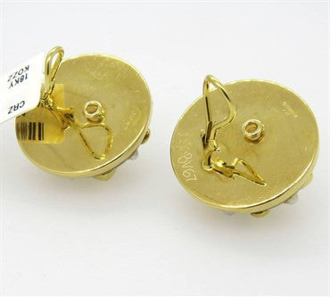 thumbnail image of Trianon Wood Pearl Gold Earrings