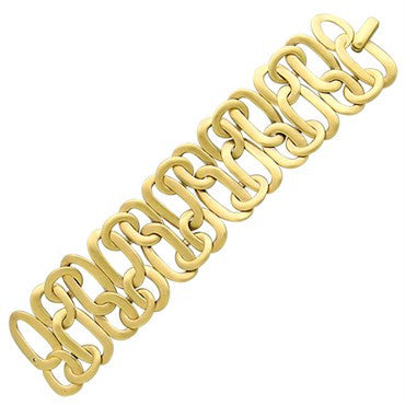 image of New Pomellato Narciso 18k Gold Wide Bracelet