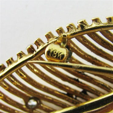 thumbnail image of 1940 50s Vintage Tiffany & Co 18k Gold Diamond Brooch