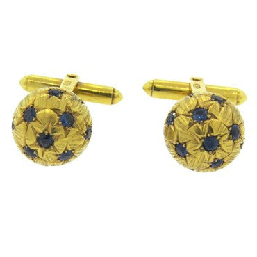 thumbnail image of Retro Sapphire Gold Cufflinks