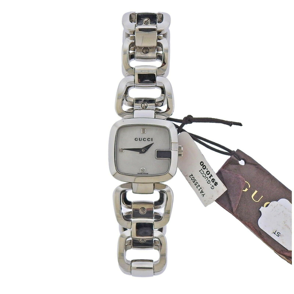 thumbnail image of Gucci G-Gucci Mother of Pearl Diamond Steel Lady's Watch YA125502