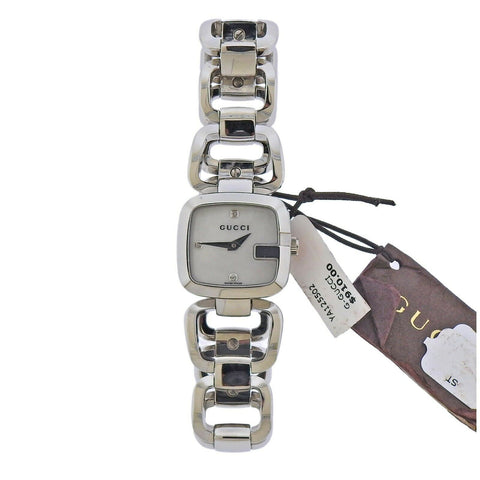 image of Gucci G-Gucci Mother of Pearl Diamond Steel Lady's Watch YA125502