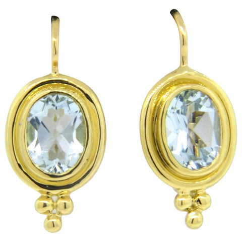 Temple St. Clair Aquamarine Gold Earrings