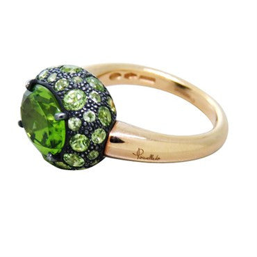 thumbnail image of New Pomellato Tabou 18k Gold Peridot Ring
