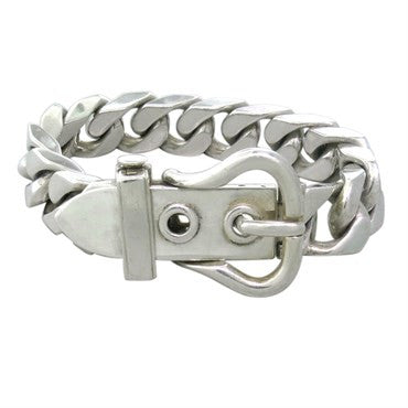 image of Hermes Boucle Sellier Sterling Silver Bracelet