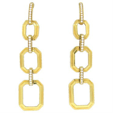 image of Ivanka Trump 18k Gold Diamond Drop Earrings