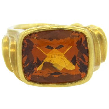 thumbnail image of Elizabeth Rand Citrine 18k Gold Sculpted Ring