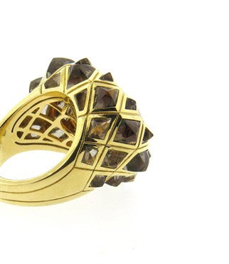 thumbnail image of Stephen Webster Limited Edition Armadillo Citrine Quartz 18k Gold Ring