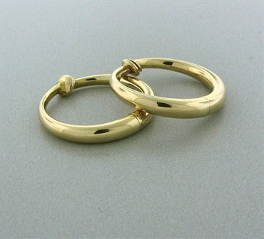 thumbnail image of Vintage Tiffany & Co 14K Yellow Gold Hoop Earrings