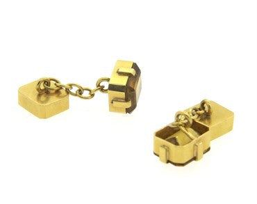 image of Antique 18k Gold and Citrine Cufflinks