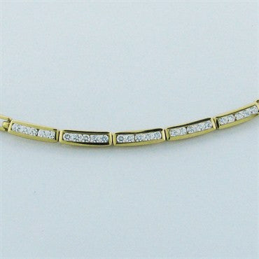 image of Estate Tiffany & Co 18k Gold 1.25ct Diamond Necklace