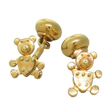 image of Pomellato Gold Orsetto Movable Bear Cufflinks