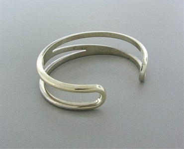 thumbnail image of Estate Tiffany & Co Sterling Silver Funky Cuff Bracelet