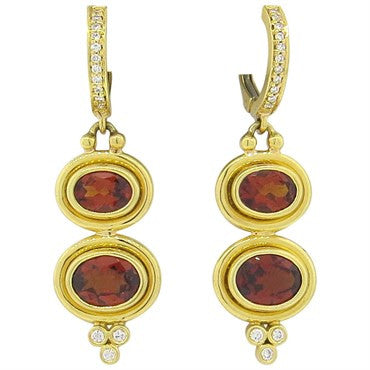 image of Temple St. Clair Madeira Citrine Diamond 18K Gold Drop Earrings