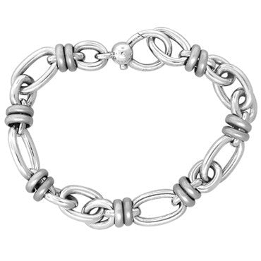 image of New Pomellato 18k White Gold Link Bracelet 51.9g
