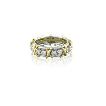 image of Tiffany & Co Schlumberger Sixteen Stone Diamond Ring