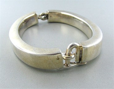 thumbnail image of Modernist Joachim S'paliu Spain Sterling Silver Large Bracelet
