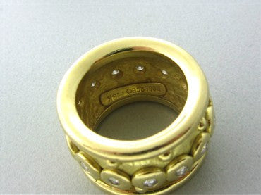 thumbnail image of Roberge 18K Yellow Gold Diamond Wide Band Ring