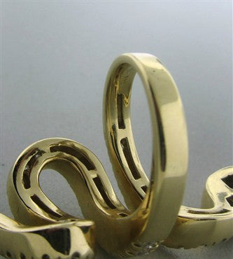 image of Sonia B. 14K Yellow Gold 1.70ctw Diamond Seprent Snake Ring
