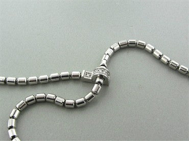 thumbnail image of New Piaget 18K White Gold Diamond Adjustable Drop Necklace