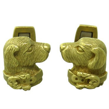 thumbnail image of Kieselstein Cord 18K Gold Dog Cufflinks