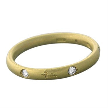thumbnail image of Pomellato Lucciole 18K Yellow Gold Diamond 2.5mm Band Ring