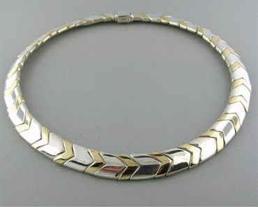 thumbnail image of Tiffany & Co Sterling Silver 18K Gold Necklace