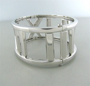 thumbnail image of Tiffany & Co Atlas Collection 18K White Gold Bangle Bracelet
