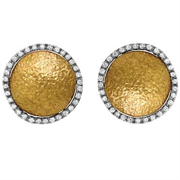 image of Roberto Coin 18k Gold Round 1.00ctw Diamond Earrings