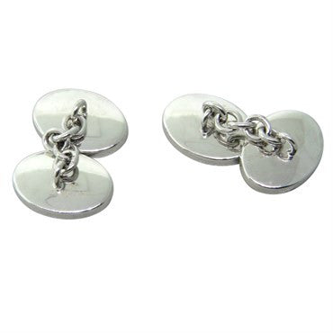 image of Trianon Black Mother of Pearl Gold Oval Cufflinks