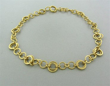 thumbnail image of Tiffany & Co 18K Yellow Gold Circle Link Chain Necklace